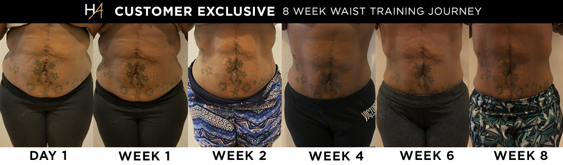 Dominique's Waist Training Before & After