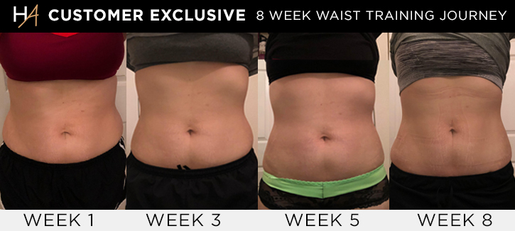 Natalia's Waist Training Before & After Pics