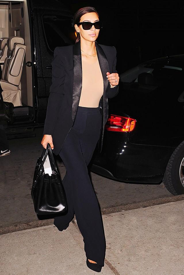Kim Kardashian in a shapewear bodysuit