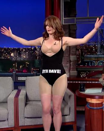 Tina Fey in Shapewear