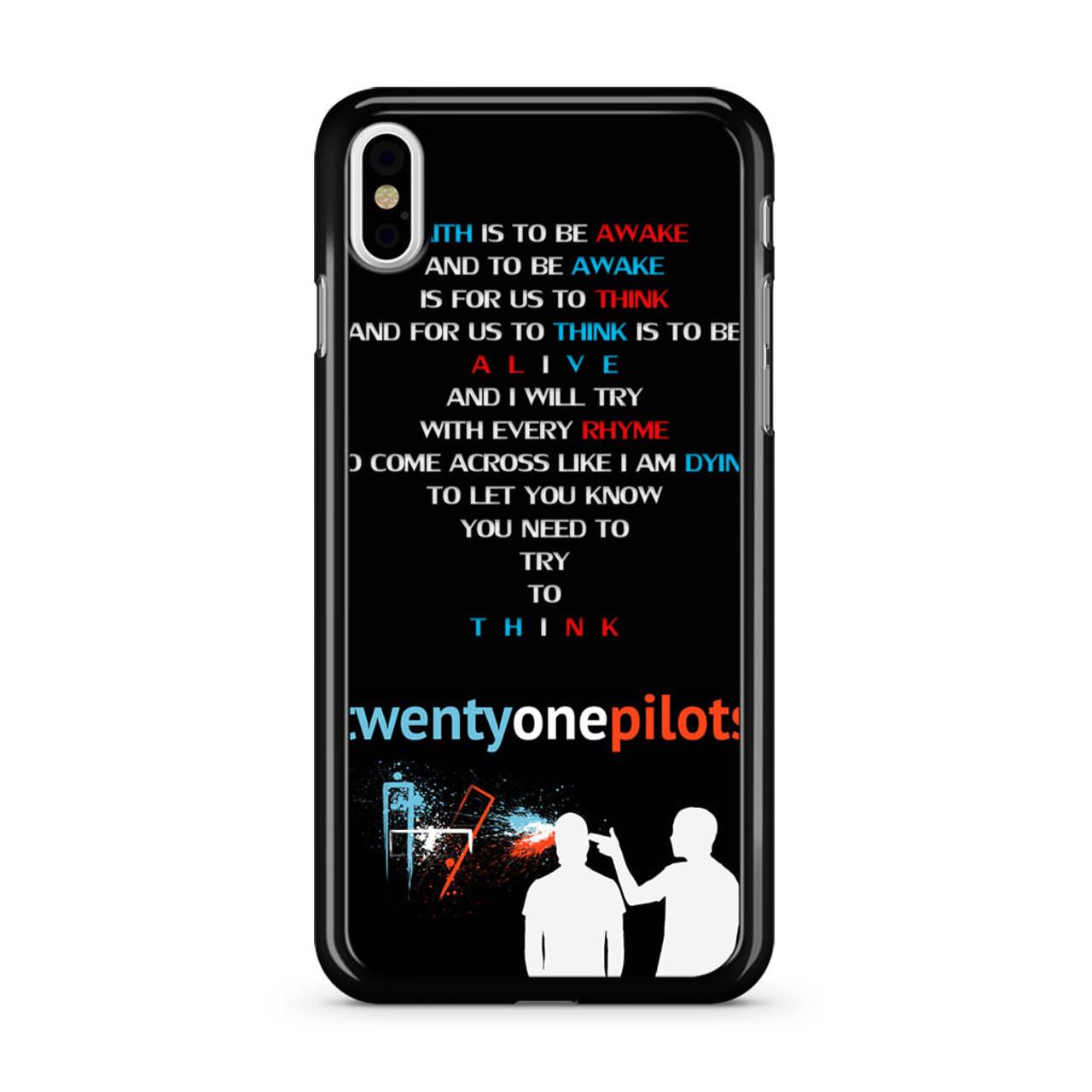 Twenty One Pilots - Car Radio Lyrics iPhone X Case - CASESHUNTER