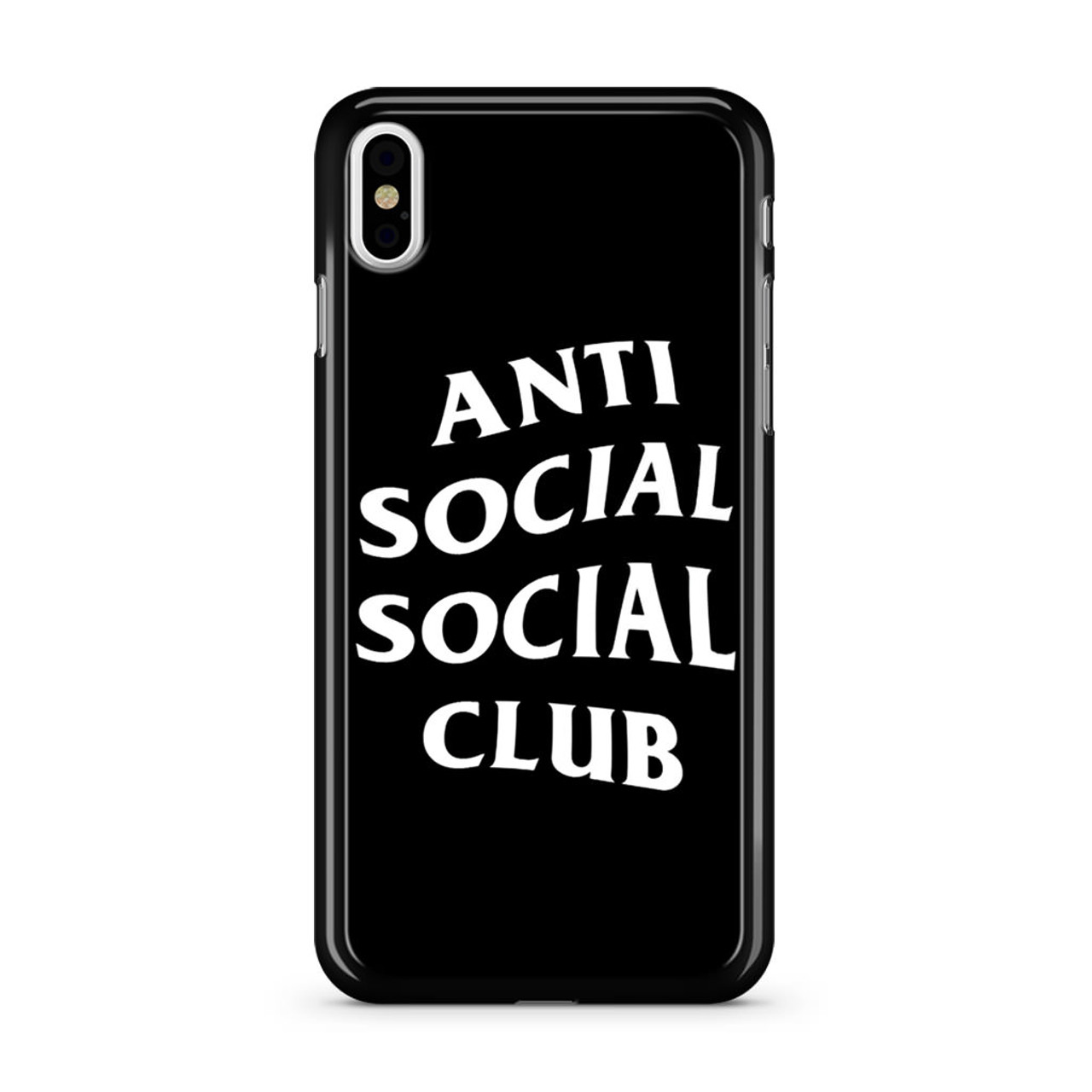 Anti Social Club Black IPhone X Case