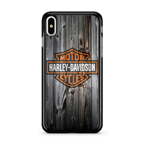 Harley Davidson Wood Art iPhone X Case