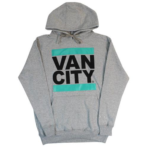 Vancity Original® New Classic Fit UnDMC Hoodie in Grey/Teal - Front