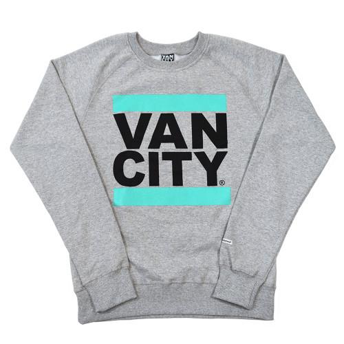 New Classic Fit UnDMC Crew Sweatshirt - Heather Grey/Teal