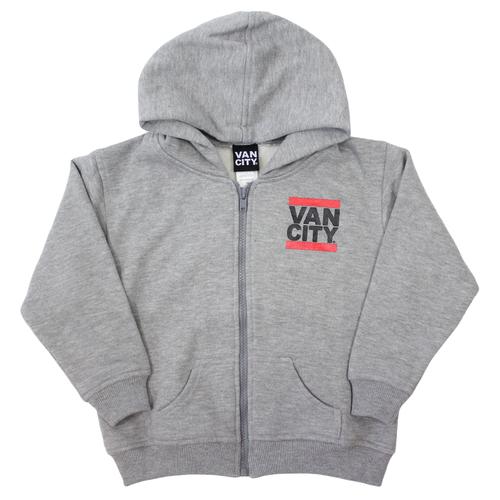 UnDMC Toddler Zip Up Hoodie - Heather Grey