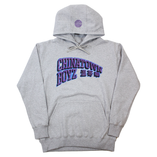Chinatown Boyz III Hoodie - Athletic Grey