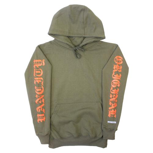 OG Sleeve Hoodie - Army/Orange