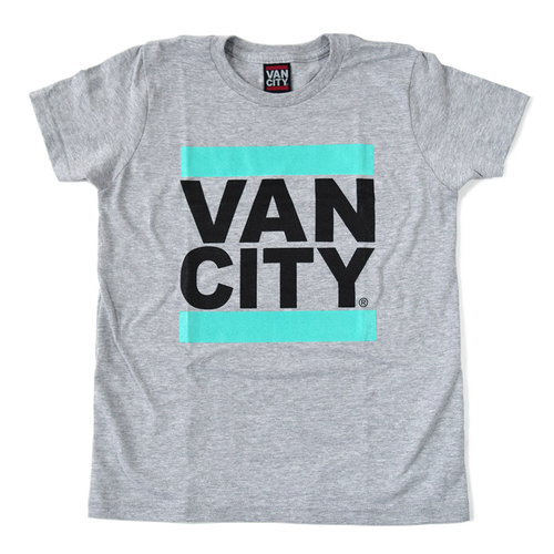 UnDMC Youth Tee - Heather Grey & Teal