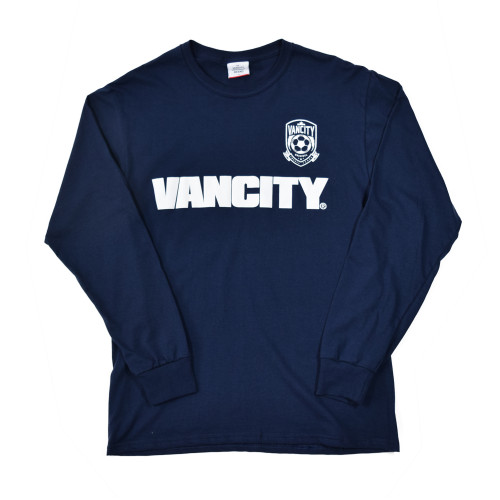20th Anniversary Crest Long Sleeve Tee - Navy