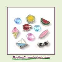 FCL Designs Summer Floating Charm Combination for Lockets