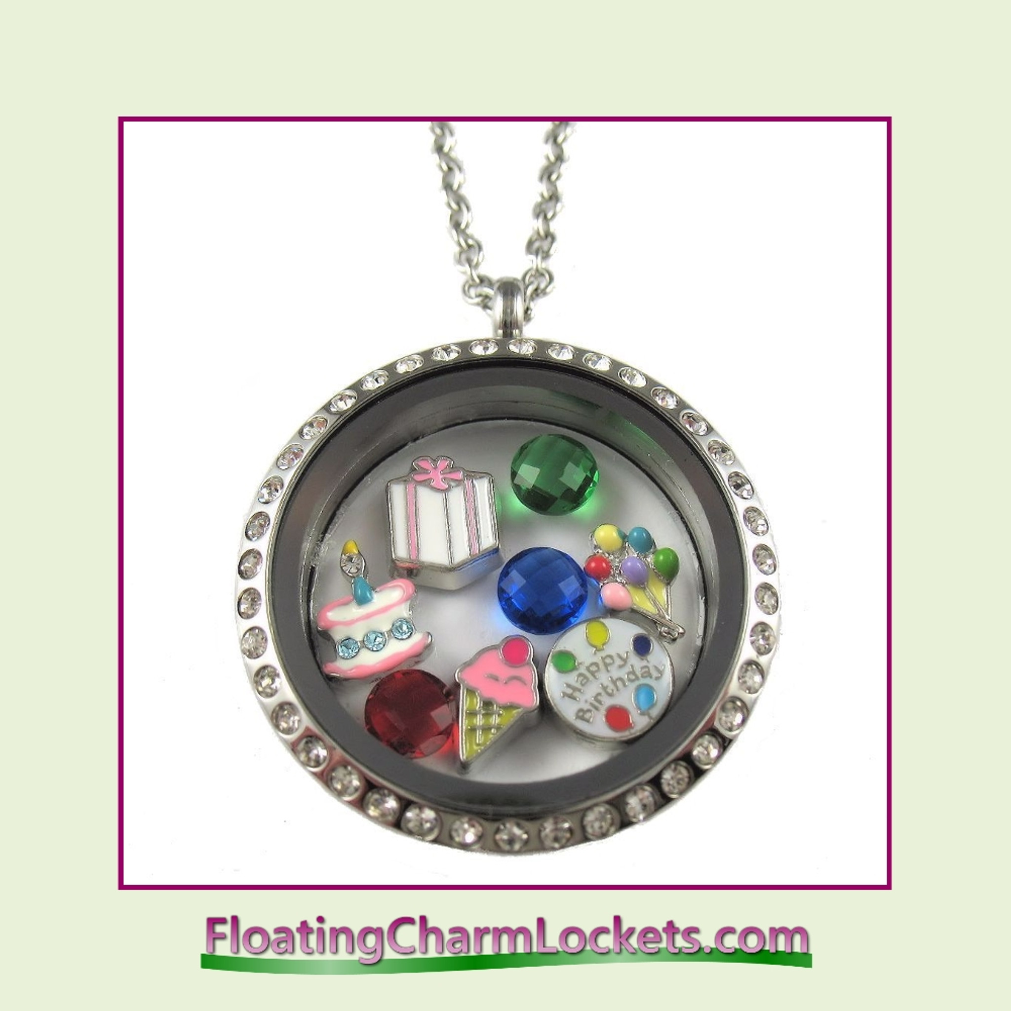 round stones with store lockets