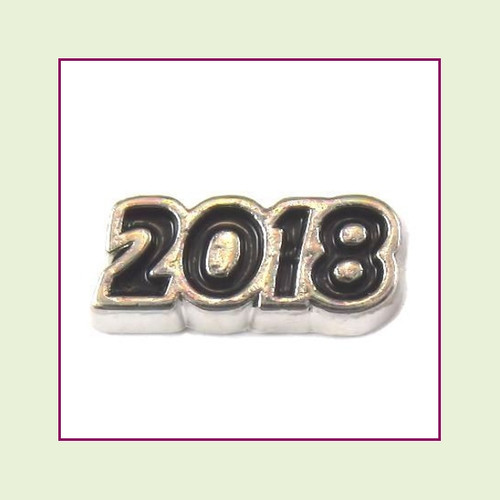 2018 Silver and Black Floating Charm