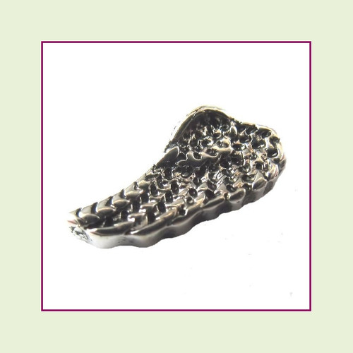 Angel Wing Antique Silver Floating Charm