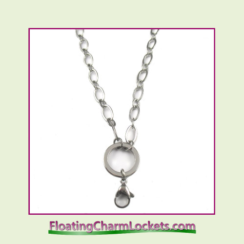 """SS580 - Large Oval Loop 32"""" Silver Stainless Steel Chain (5mm)"""