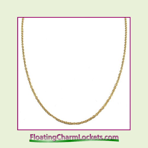 """SS650 - 18"""" Gold Stainless Steel Chain (2.4mm)"""