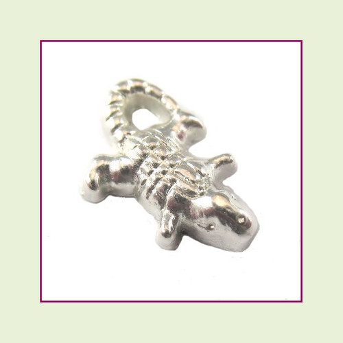 Alligator Silver Floating Charm