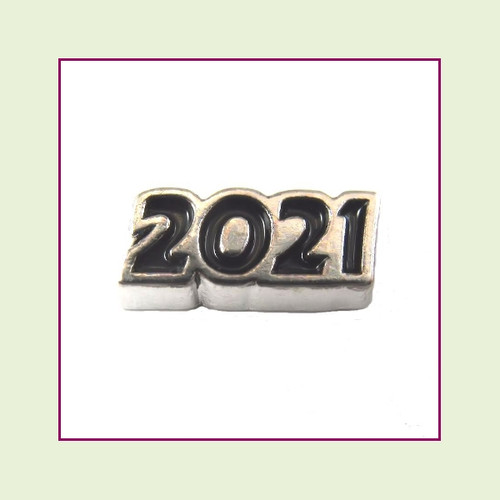 2021 Silver and Black Floating Charm