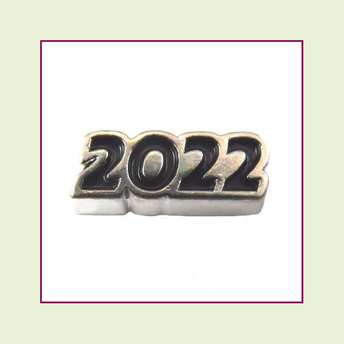 2022 Silver and Black Floating Charm