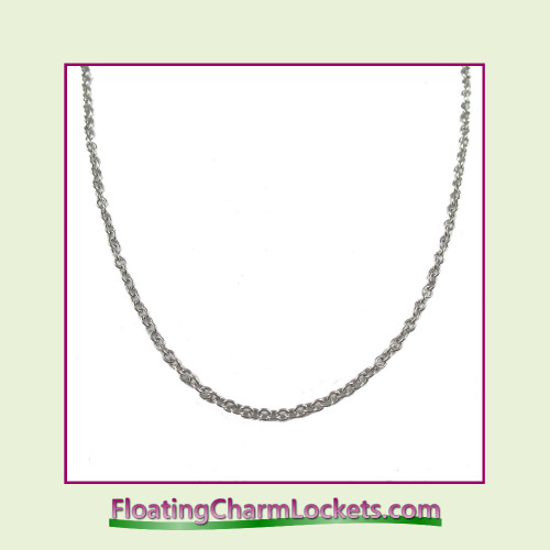 """SS555 - 21.7"""" Silver Stainless Steel Chain (2.4mm)"""