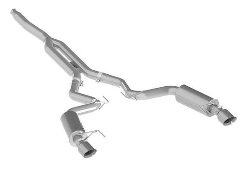 MBRP 15 Ford Mustang EcoBoost 2.3L T409 3in Cat Back Dual Split Rear Exit (Street Version)