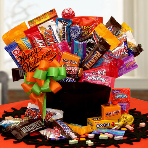 happy halloween candy cauldron of treats 19 awesome halloween gift baskets