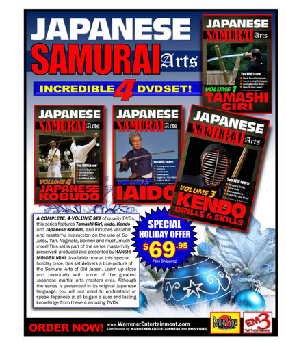 Japanese Arts Of The Samurai 4 DVD set