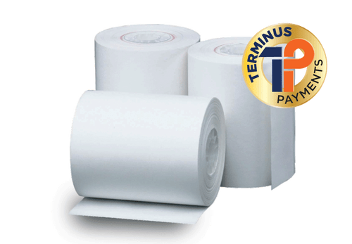 "POS Merchandise 3 1/8"" X 220' Thermal Cash Register Receipt Rolls, POS Paper, White (50 Rolls)"