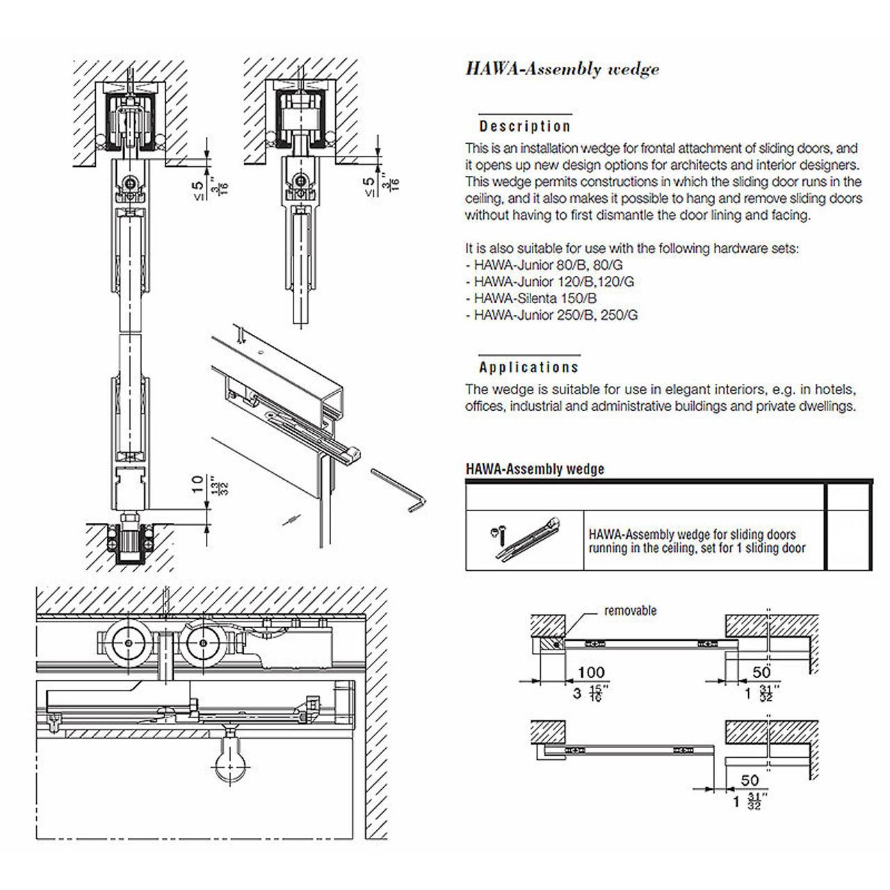 Hawa Junior 120 B Sliding Wood Door Kit 14936 Easy To