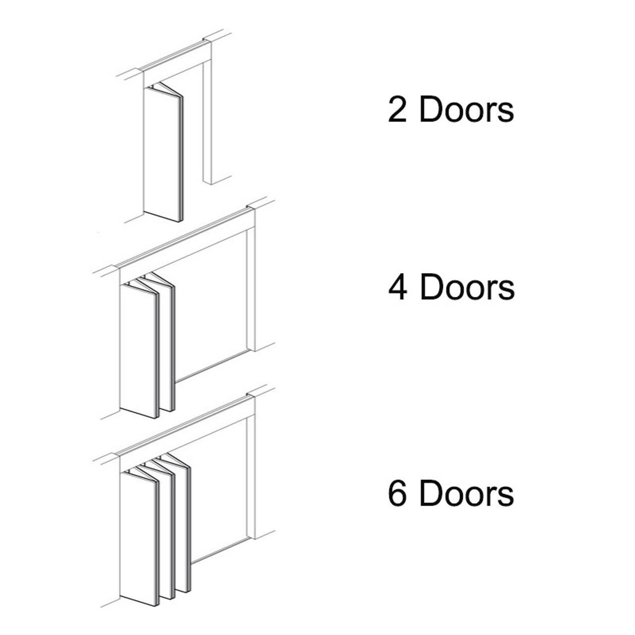 Hawa Bifold 30 Sliding/Folding Wood Door Kit 12647
