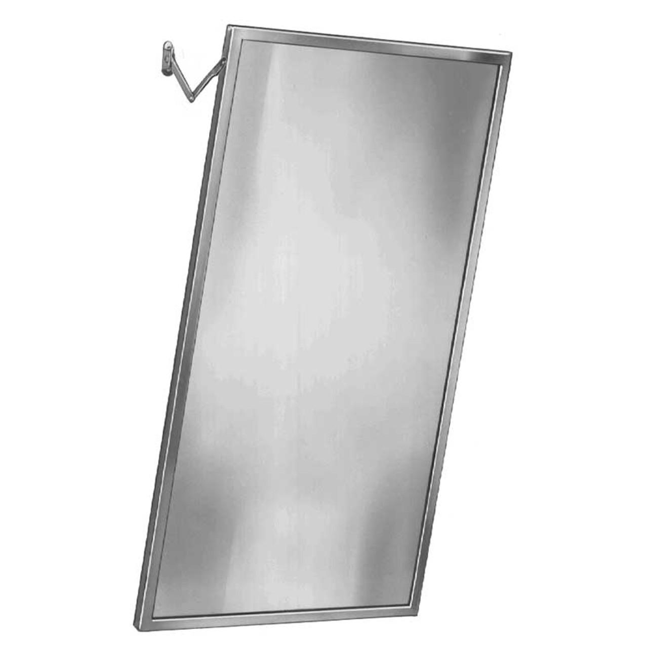 Bradley Adjustable Tilt Stainless Steel Frame Mirror