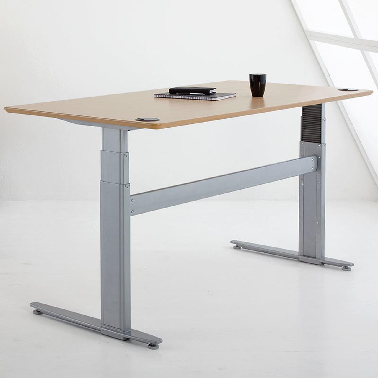 Conset 501 27 height adjustable motorized desk 21 47 sit for Motorized adjustable height desk