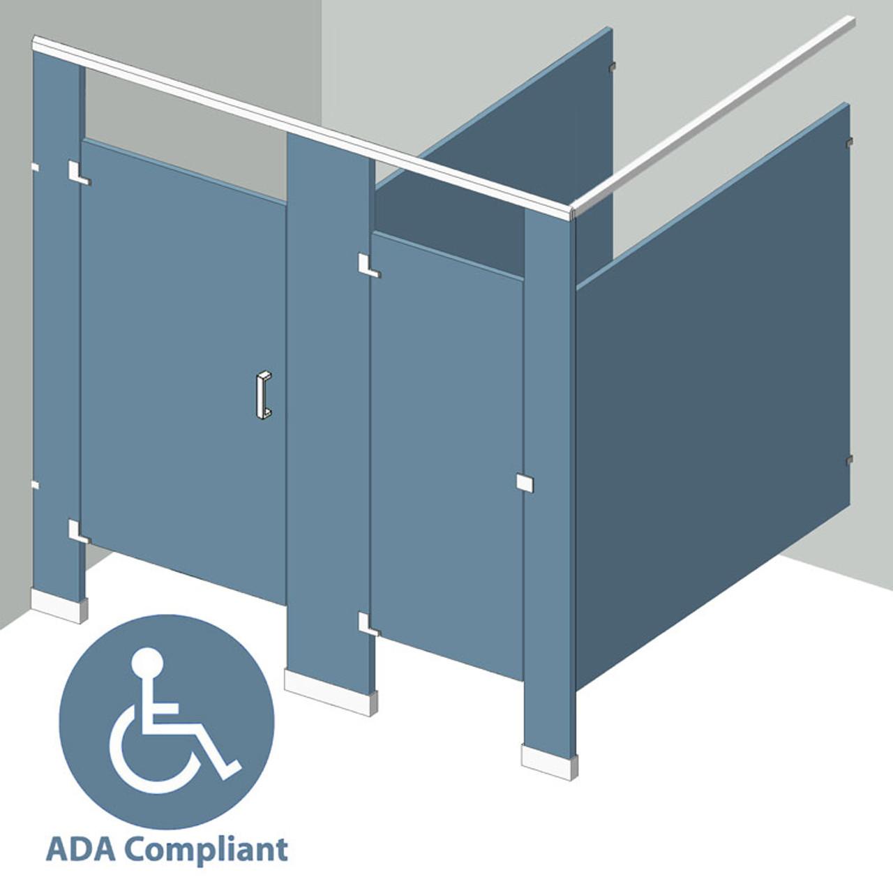 Bathroom Partitions Stalls In Corner Left Hand Shop ADA - Bathroom stals