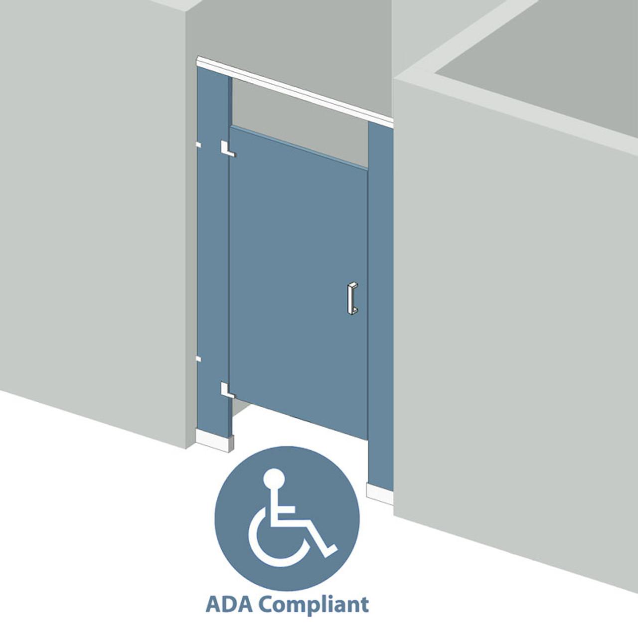 Bathroom Partitions Stall Between Walls Left Hand ADA - Bathroom stall door closer