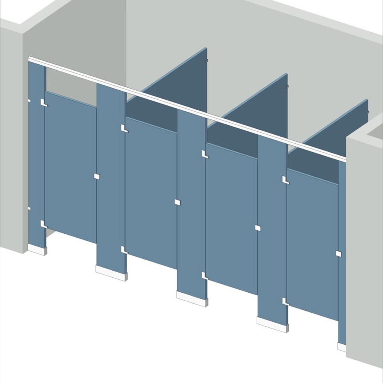 Bathroom Partitions 4 Stalls Between Walls Left Hand