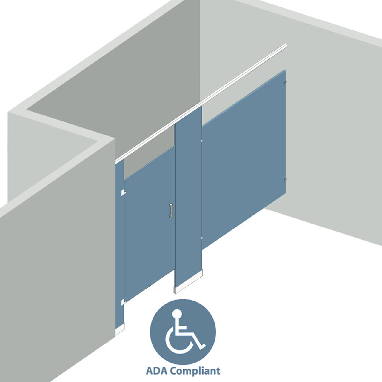 Bathroom Partitions Stall Alcove Left Hand ADA Compliant - Ada bathroom partitions