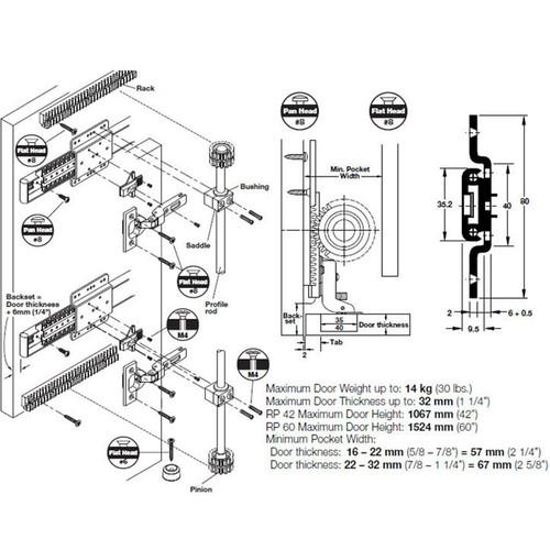 Hafele Rp 60 Pivot Pocket Door Hardware Door Slide