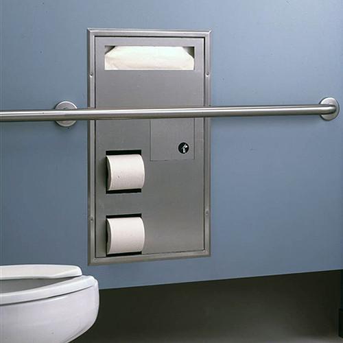 Bobrick Classic Series Seat Cover Toilet Tissue Dispenser