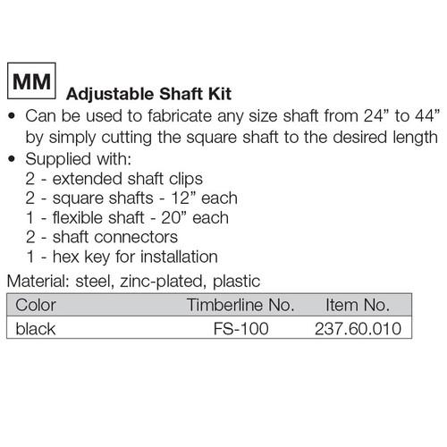 Timberline Adjustable Shaft Kit Harbor City Supply
