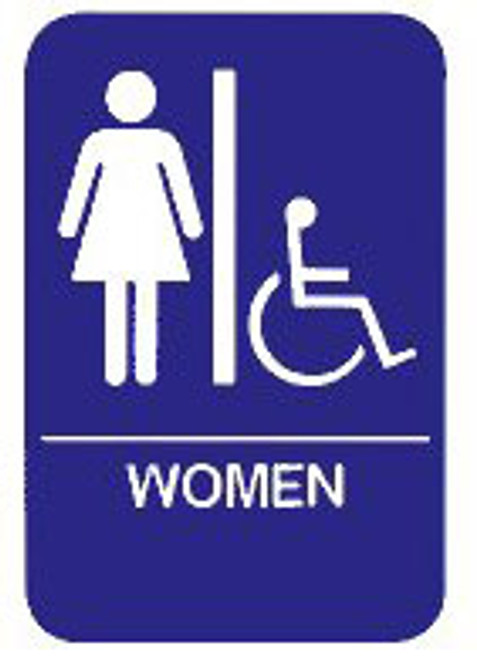 Bathroom Signage With Braille Fast Shipping - Handicap bathroom sign