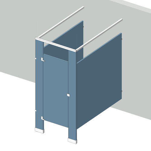 Bathroom Partitions   1 Stall Free Standing Left Hand