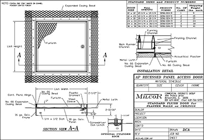 Milcor Style AP Data Sheet