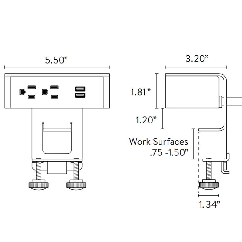 Ashley Duo Clamp Mount Spec Sheet