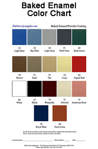 Baked Enamel Color Chart