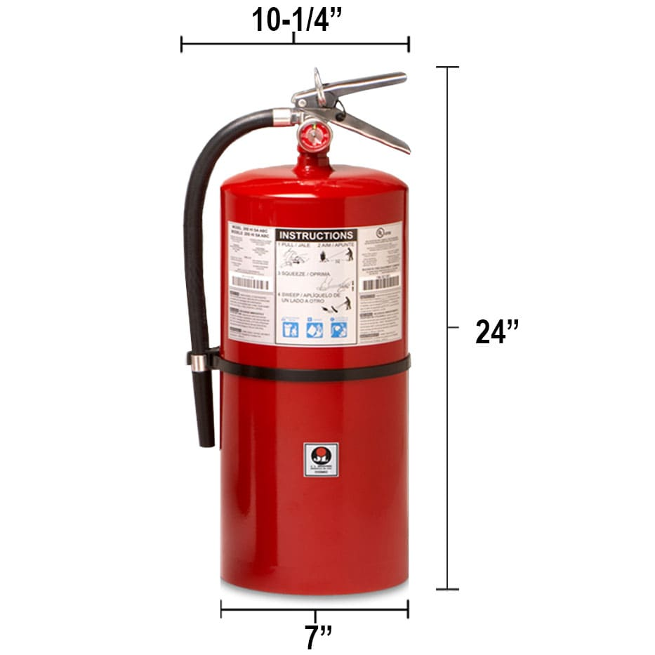 Dry Chemical 20 lb Fire Extinguisher - Multi Purpose Cosmic Dimensions
