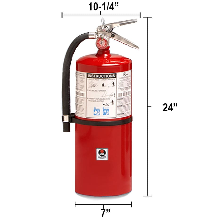 Dry Chemical 20lb Fire Extinguisher - Class BC Galaxy Dimensions