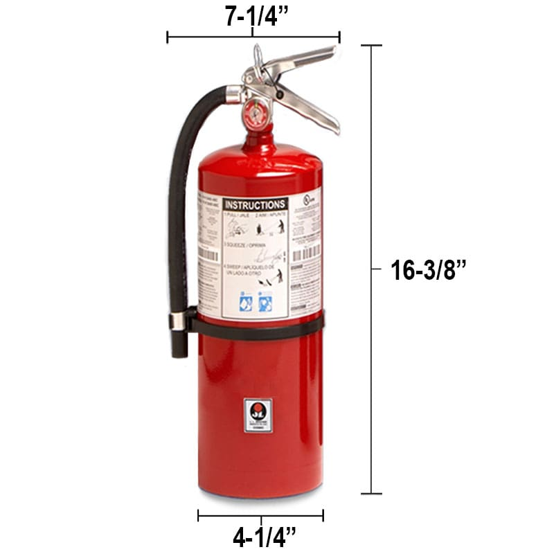 Dry Chemical 5.5lb Fire Extinguisher - Class BC Galaxy Dimensions