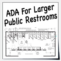 Large public restrooms