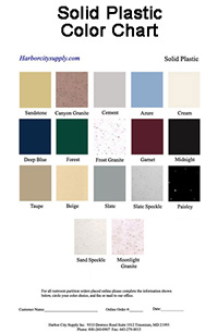 Solid Plastic Color Chart