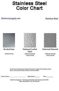 Stainless Steel Color Chart